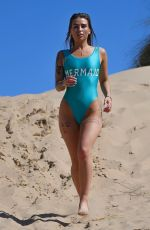 JENNY THOMPSON in Swimsuit at a Beach in Spain 04/29/2018