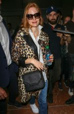 JESSICA CHASTAIN Arrives at Nice Airport 05/09/2018