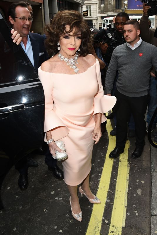 JOAN COLLINS at Hello! Magazine x Dover Street Market 30th Anniversary Party in London 05/09/2018