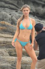 JOANNA KRUPA in Bikini on the Set of a Photoshoot in Malibu 05/13/2018