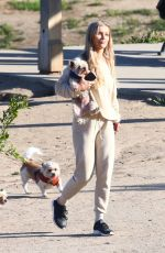 JOANNA KRUPA Out with Her Dog in Los Angeles 05/11/2018
