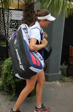 JOHANNA KONTA Arrives at Training Session at Roland Garros in Paris 05/30/2018