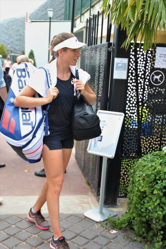 JOHANNA KONTA Arrives at Training Session at Roland Garros in Paris 05/30/2018