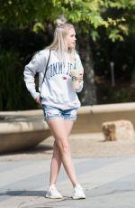 JORDY JONES in Denim Shorts Out in Los Angeles 05/09/2018