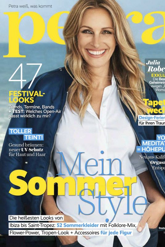 JULIA ROBERTS in Petra Magazie, June 2018