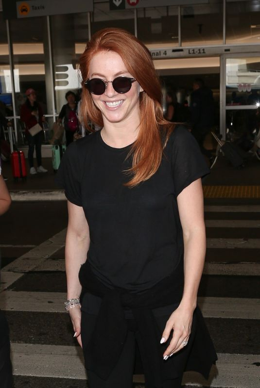 JULIANNE HOUGH at LAX Airport in Los Angeles 05/23/2018