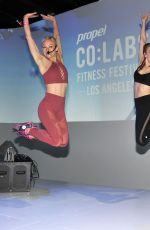 JULIANNE HOUGH at Propel Co:Labs Fitness Festival in Los Angeles 04/10/2018