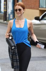 JULIANNE HOUGH Leaves a Gym in Studio City 05/01/2018