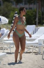 JULIEANNA YESLUZ GODDARD in Bikini on the Beach in Miami 05/08/2018