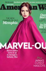 KAREN GILLAN in American Way, May 2018 Issue
