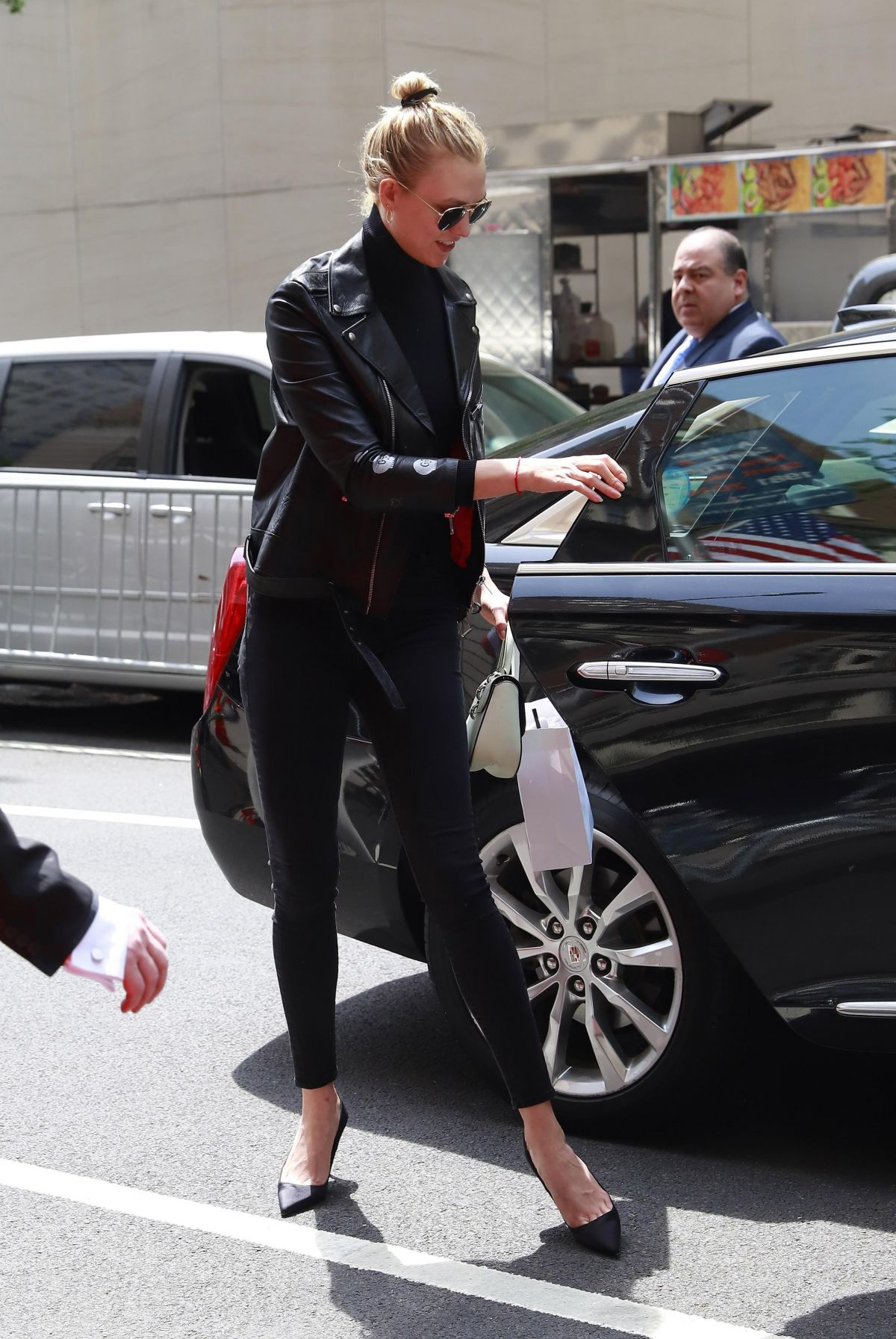KARLIE KLOSS Arrives at Mark Hotel for the MET Gala in New York 05