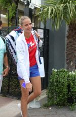 KAROLINA PLISKOVA Arrives at Roland Garros in Paris 05/30/2018