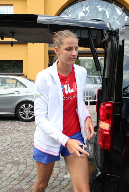 KAROLINA PLISKOVA Arrives at Roland Garros in Paris 05/30/2018