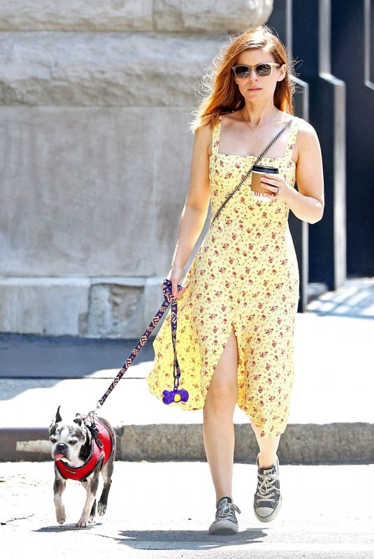 KATE MARA Out with Her Dog in New York 05/15/2018