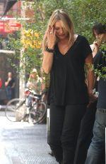 KATE MOSS at a Smoke Break in New York 05/09/2018