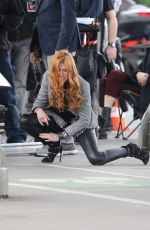 KATHERINE MCNAMARA on the Set of Shadowhunters in Paris 05/17/2018