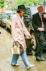KATIE HOLMES Leaves Her Apartment in New York 05/22/2018