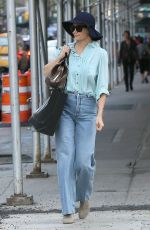KATIE HOLMES Out in New York 05/01/2018