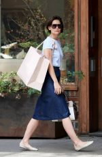 KATIE HOLMES Out in New York 05/15/2018