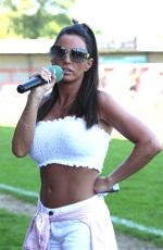 KATIE PRICE at Just 4 Children Charity Football Match at Crawley Town Football Club 05/07/2018