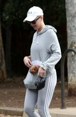 KATY PERRY Out with Her Dog in Studio City 05/12/2018