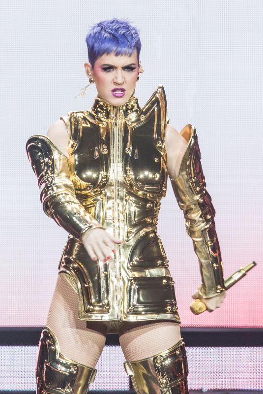 KATY PERRY Performs at a Concert in Cologne 05/24/2018