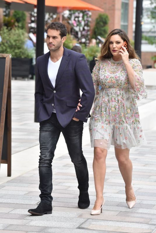 KELLY BROOK and Jeremy Parisi at ITV Studios in London 05/21/2018
