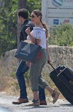 KELLY BROOK Arrives at Airport in Mykonos 05/27/2018
