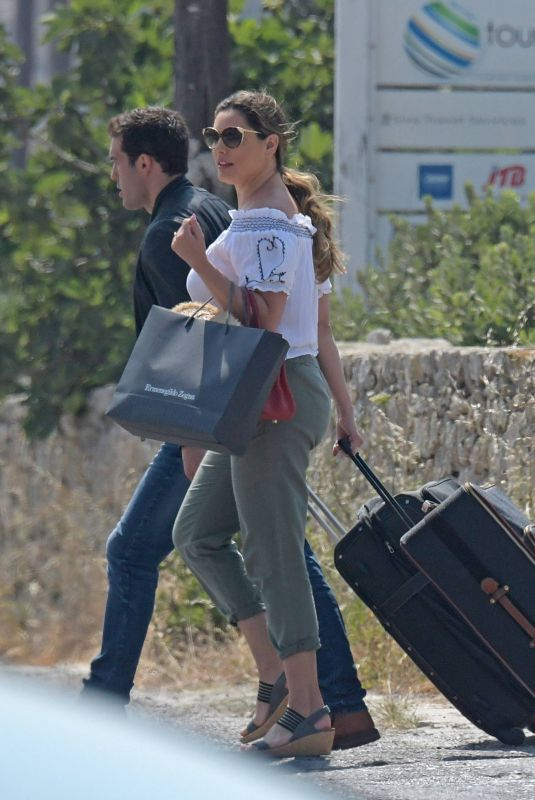 KELLY BROOK Arrives at Airport in Mykonos 05/27/2018