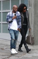 KELLY ROWLAND and Tim Weatherspoon Out in West Hollywood 04/30/2018