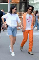 KENDALL JENNER in Denim Shorts Out in New York 05/09/2018