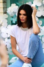 KENDALL JENNER on the Set of Photoshoot for Adidas in New York 05/03/2018