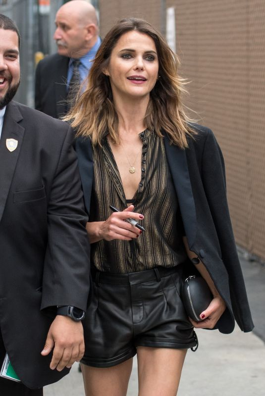 KERI RUSSELL Arrives at Jimmy Kimmel Live in Los Angeles 05/29/2018