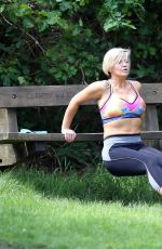 KERRY KATONA Working Out at a Park in Sussex 05/31/2018
