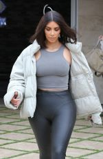 KIM KARDASHIAN Out for a Coffee in Calabasas 04/30/2018
