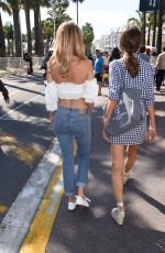 KIMBERLEY GARNER and ALICE JEFFERY Out in Cannes 05/11/2018