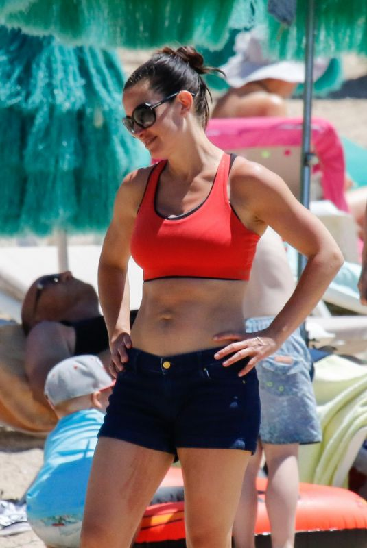 KIRSTY GALLACHER at Bootcamp Workout on the Beach in Ibiza 05/15/2018