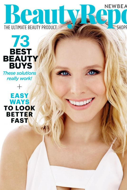 KRISTEN BELL on the Cover of Beauty Report, April 2018 Issue