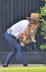 KRISTEN BELL Walks Her Dog Out in Los Angeles 05/10/2018