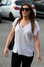 KYM MARSH Arrives at Inflata Nation Opening in Runcorn 05/04/2018