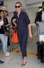 LARA STONE Arrives at Nice Airport 05/16/2018