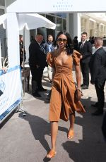 LAURA HARRIER Leaves Hotel Martinez in Cannes 05/12/2018