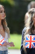 LAUREN POPE on the Set of The Only Way is Essex at Colchester Castle 05/10/2018