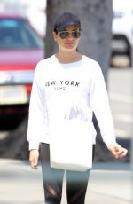 LEA MICHELE Out in Los Angeles 05/12/2018