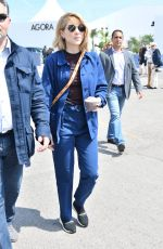 LEA SEYDOUX Out and About in Cannes 05/10/2018