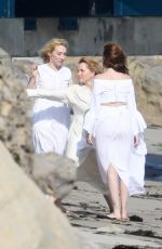 LEA THOMPSON and ZOEY and MADELYN DEUTCH on the Set of a Photoshoot in Maibu 05/21/2018