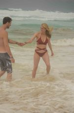 LEVEN RAMBIN in Bikini at a Beach in Cancun 05/26/2018