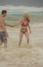LEVEN RAMBIN in Bikini at a Beach in Cancun 05/26/2018