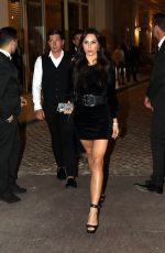 LILIANA NOVA Leaves Hotel Martinez in Cannes 05/11/2018