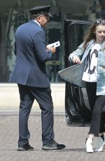 LILY COLLINS Arrives at Peninsula Hotel in Beverly Hills 05/22/2018